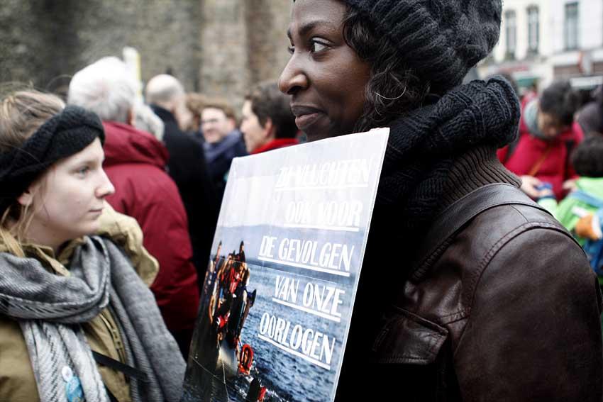 Solidariteitsbetoging #GastvrijGent