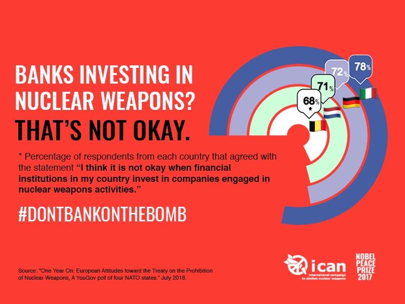 Internationaal onderzoek: ruime meerderheid Europeanen wil Amerikaanse kernwapens weg