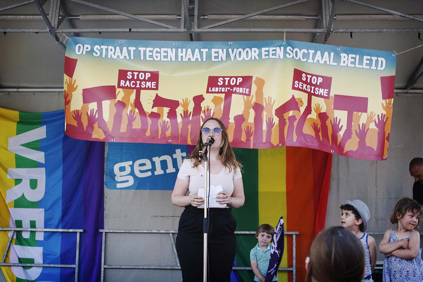 Protestmars tegen haat en voor een sociaal beleid