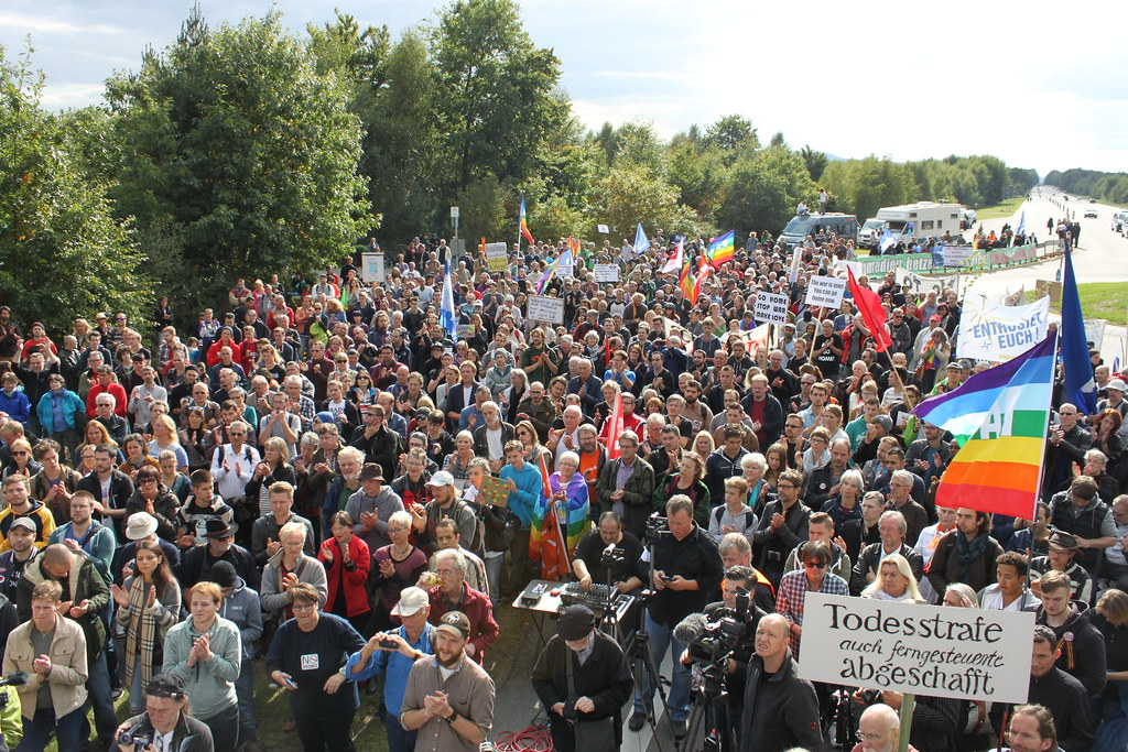 Ramstein Protests in 2019 - No to war and Military Bases